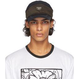 Fendi Black & Brown Two-Mode Cap
