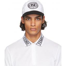 Fendi Reversible Black & White Joshua Vides Edition Baseball Cap