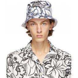 Fendi Reversible White & Black Joshua Vides Edition Bucket Hat