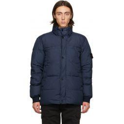 Stone Island Blue Down Crinkle Reps NY Jacket
