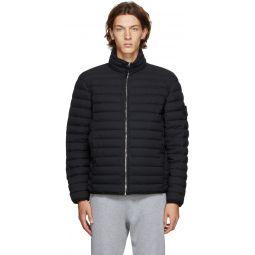 Stone Island Black Down Chambers Stretch Nylon-TC Jacket