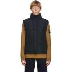 Stone Island Black Down Micro Reps Vest