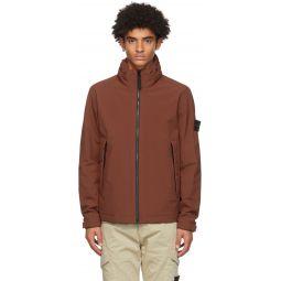 Stone Island Burgundy Soft Shell-R Jacket