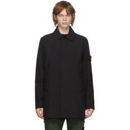 Stone Island Black PrimaLoft® Soft Shell-R Coat