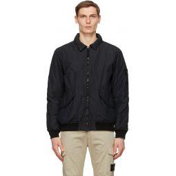 Stone Island Black Insulated Nylon Jacket