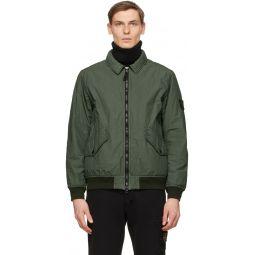 Stone Island Green Insulated Nylon Jacket