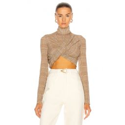 Draped Cropped Twist Top
