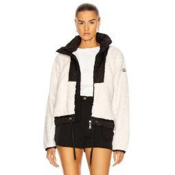 Maglia Hybrid Shearling Zip Jacket