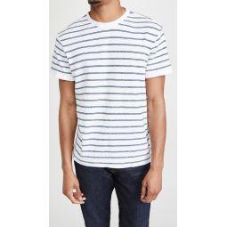 Short Sleeve Textural Stripe Shirt