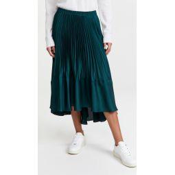Pleated Flounce Skirt