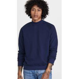 Tea Dyed Mock Neck Sweatshirt
