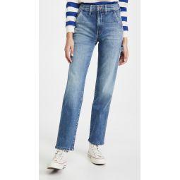 High Waisted Utility Jeans
