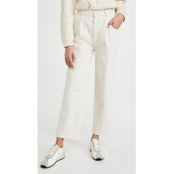 Half Spring Pleated Greaser Jeans