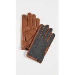 Wool and Leather Hybrid Gloves