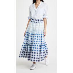 Laney Gingham Midi Skirt