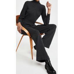 Turtleneck Knit Jumpsuit