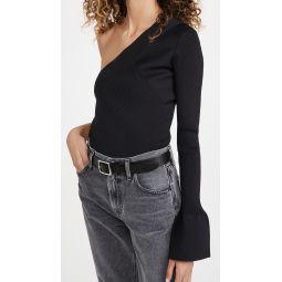 One Sleeve Rib Pullover