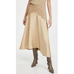 Crinkle Paneled Skirt