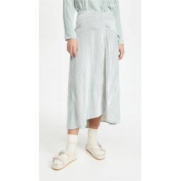 Ruched Paneled Skirt