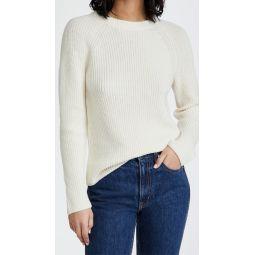 Ribbed Raglan Crew Sweater