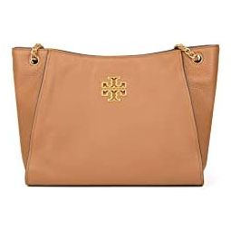 Tory Burch Womens Britten Small Slouchy Tote in Pebbled Leather