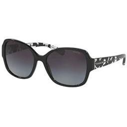 Coach HC8166 Butterfly Sunglasses for Women + FREE Complimentary Eyewear Kit
