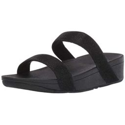FitFlop Womens Lottie Glitzy Slide Sandal
