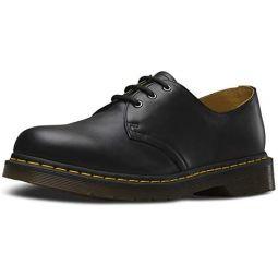 Dr. Martens, 1461 3-Eye Leather Oxford Shoe for Men and Women, Black Smooth, 12 US Women/11 US Men