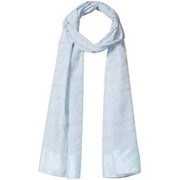 Emporio Armani womens Cotton-blend Scarf With Logo Detail