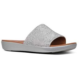 FitFlop Womens Sola Crystalled Slide Sandal