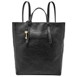 Fossil Womens Camilla Leather Convertible Backpack Purse Handbag