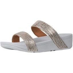 FitFlop Womens Lottie Chain Print Slide Sandal