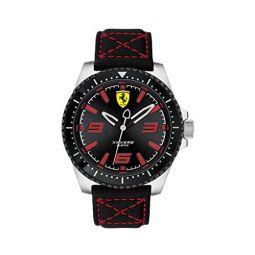 Ferrari Mens XX KERS Stainless Steel Quartz Watch with Nylon Strap, Black, 22 (Model: 830483)