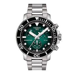 Tissot Mens Seastar 660/1000 Swiss Quartz Stainless Steel Strap, Grey, 22 Casual Watch (Model: T1204171109101)