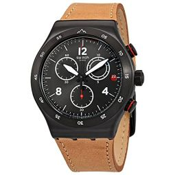 Swatch The Journey is The Reward Black Dial Mens Watch YVZ400