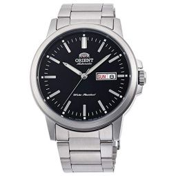 Orient Automatic Black Dial Stainless Steel Mens Watch RA-AA0C01B19B