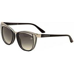 SWAROVSKI Womens Diva Sk0061 Wayfarer Sunglasses