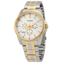 Citizen Chronograph Quartz Silver Dial Mens Watch AG8344-57B