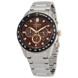 Citizen Eco Chronograph Brown Dial Mens Watch CA4456-83X