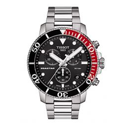 Tissot Mens Seastar 660/1000 316L Stainless Steel case Swiss Quartz Strap, Grey, 22 Casual Watch (Model: T1204171105101)