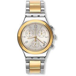 Swatch Chronograph Quartz Dreamnight Golden Unisex Watch YCS590G