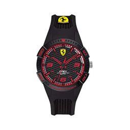 Ferrari Kids Quartz Watch with Silicone Strap, Black, 16 (Model: 840036)