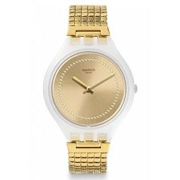 Swatch Unisex Analogue Quartz Watch with Stainless Steel Strap SVOW104GB