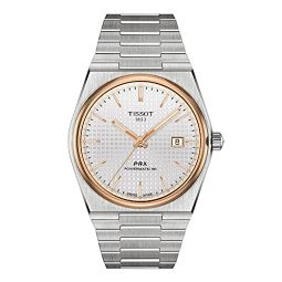 Tissot Mens PRX Swiss Automatic Dress Watch with Stainless Steel Strap, Grey, 12 (Model: T1374072103100)