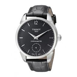 Tissot Mens T0704061605700 T-complication Analog Display Mechanical Hand Wind Black Watch