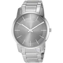 Calvin Klein City Mens Analogue Stainless Steel Bracelet Watch