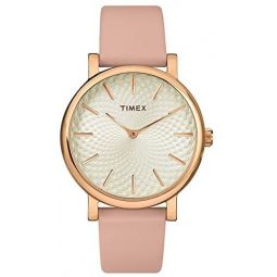 Timex Womens Metropolitan 34mm Watch Leather Strap