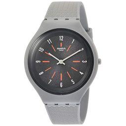 Swatch Skinshado Grey Dial Mens Watch SVUM103