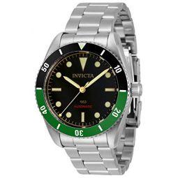 invicta Mens 34335 Pro Diver Automatic 3 Hand Black Dial Watch