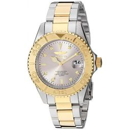 Invicta Mens Pro Diver Quartz Watch with Stainless Steel Strap, Two Tone, 18 (Model: 29943)
